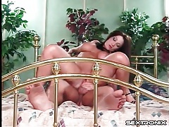 Mom with pierced cunt and big tits rides cock tubes