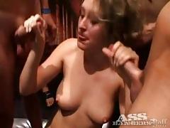 Anal fucking dominates hot gangbang video tubes
