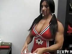 Angela salvagno - muscle cheerleader 1 tubes