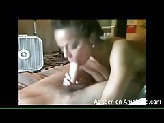 Beautiful amateur girl sucks her man sensually tubes