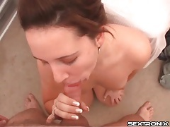 Girl in pretty jewelry sucks dick in pov tubes