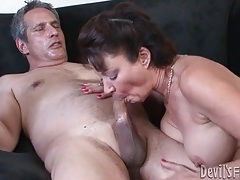 Milf with hot hairy hole fucked by her man tubes