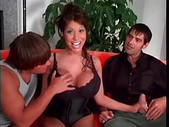 Ava devine gives wet blowjobs in threesome tubes