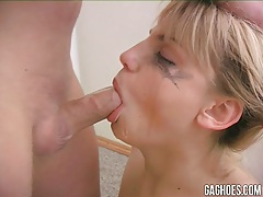 Megan receive all the throat-gagging she wished for! tubes