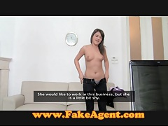 Fakeagent brunette with braces attempts blowjob tubes