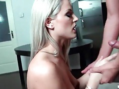Blowjob from girl in red lipstick is sexy tube