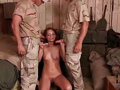 Sucking army men dicks and getting fucked tubes