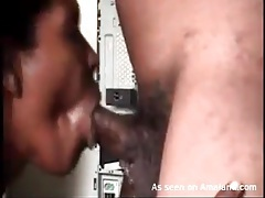 Ebony blowjob in close up is arousing tubes