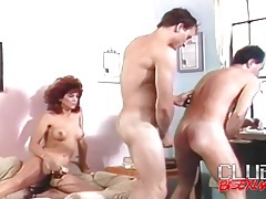 Doggystyle bareback anal in retro bisex video tubes