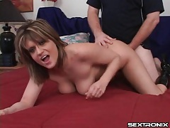 Big natural tits swinging in doggystyle scene tubes
