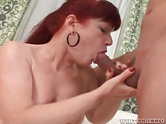 Real redhead with thick pubic hair has sex tubes