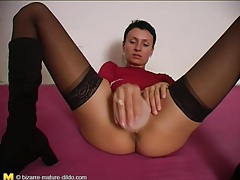 Toy fuck girl in sheer lingerie is horny tubes