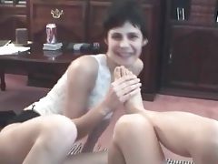 Toe sucking lesbian chicks in amateur video tubes