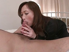 Blowjob and footjob from voluptuous japanese girl tubes