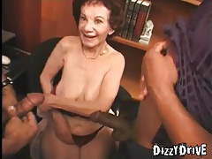 Granny craves that big black cock in her box tubes