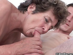 Cock hungry grandma loves anal sex tubes