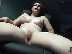 Girl can suck her own tits and takes a shower tubes