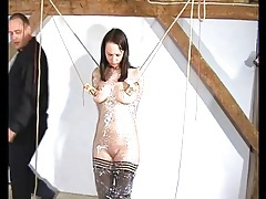 Busty girl cries from pain in her bdsm video tubes