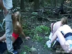 Girls gathered in the woods to get fucked deep tubes