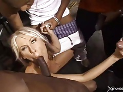 Skinny little girl gang fucked by black cocks tubes