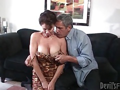 Mature seduces her man and sucks his cock tubes