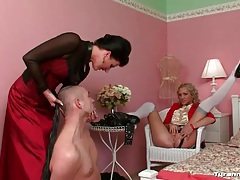 He is teased by the mistress he cannot fuck tubes