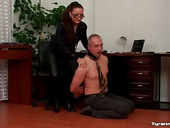 Mistress whips his ass and back roughly tubes
