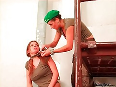 Girl takes a beating and abuse in femdom video tubes