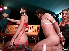 Couple tied up and toyed with by dom couple tubes