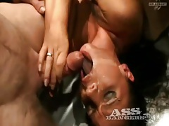 Cock cram cunts and asses in hot gangbang tubes