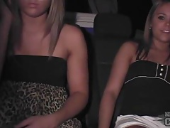 Upskirt amateurs in the back of the car tubes