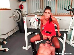 She rides his face strapon in sexy femdom video tubes
