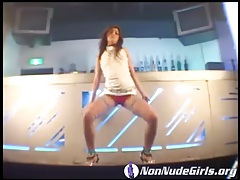 Sexy asian dances in the bar and looks hot tubes
