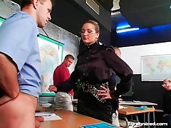 Dominant teacher humiliates her sub students tubes