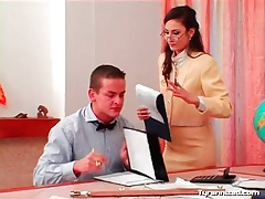 Teachers make him take out his cock and jerk off tube