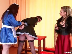 Mistress kinky play with two french maid sluts tubes