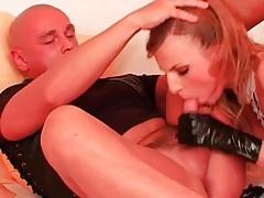 French maid hottie sucks his dick like a slut tubes