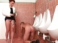 Hairy guy strapon ass fucked by mistress tubes