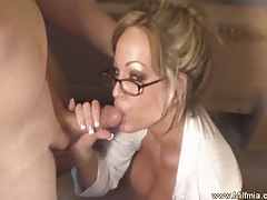 Bad milf secretary must pay tubes