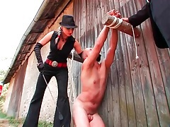 Naked man humiliated outdoors by femdom mistress tubes