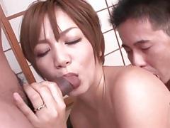 Busty japanese girl on her back for hardcore sex tubes