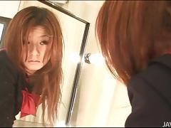 Costume on cute masturbating japanese girl tubes
