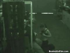 Man in hard hat blown by cocksucking brunette tubes