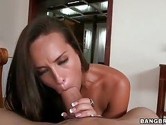 Pov cocksucker gets on top and rides it tubes
