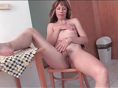 Sexy outfit on housewife that strips solo tubes