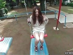Sweater is sexy on japanese girl outdoors tubes