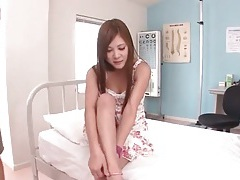 Cute dress on japanese teen in threesome tubes