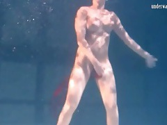 Ballerina stars in arousing underwater show tubes