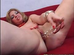 Voluptuous milf toys her asshole lustily tubes
