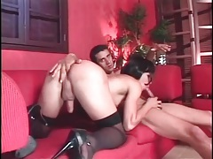 Fingering hot tgirl and fucking her in the butt tubes